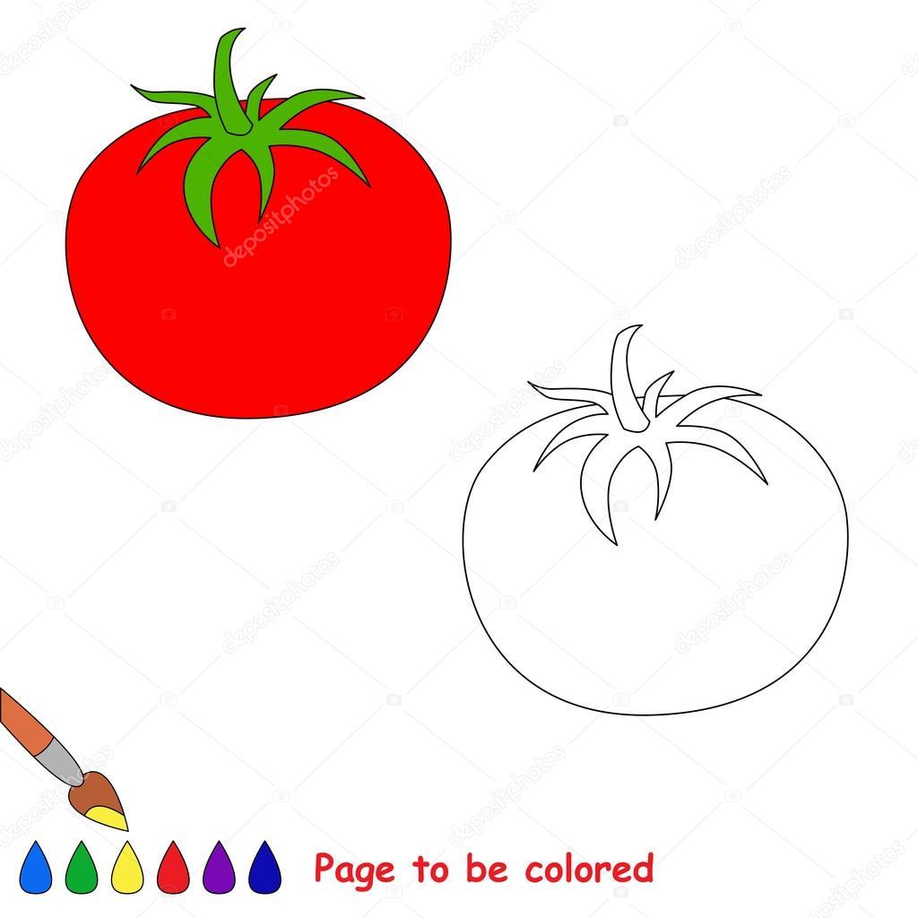 Renkli Karikatür Domates Stok Vektör Annamikhailova 83651642