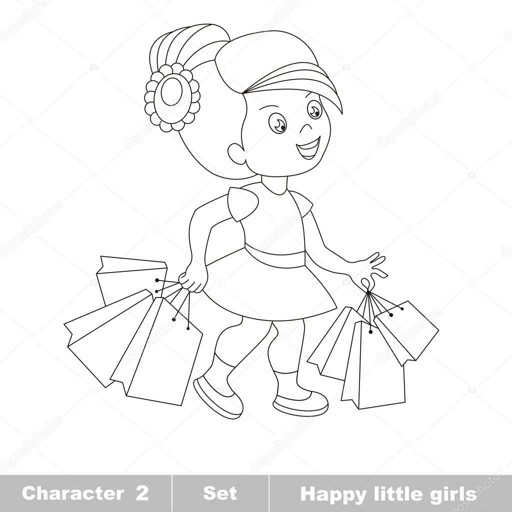 Fille D Un Dessin Animé De Bébé Hobby Shopping Image