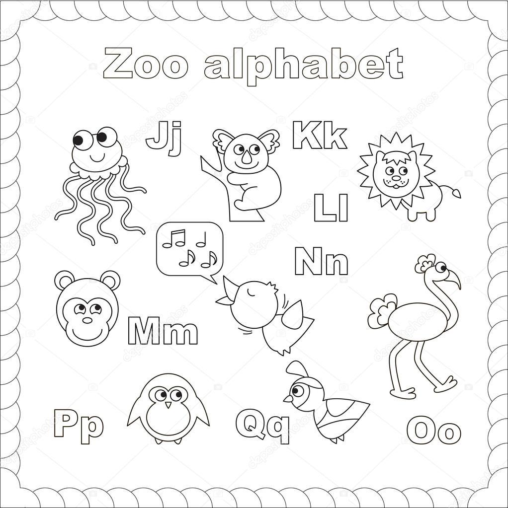Dibujos Zoologico Para Imprimir Esquema Abecedario
