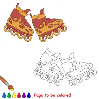 Roller skates. Kid children game.