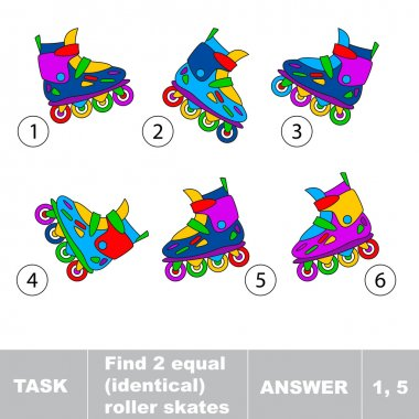 Find two equal identical roller skates.