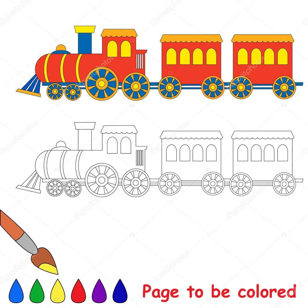 Oyuncak Kırmızı Mavi Tren Stok Vektör Annamikhailova 84102428