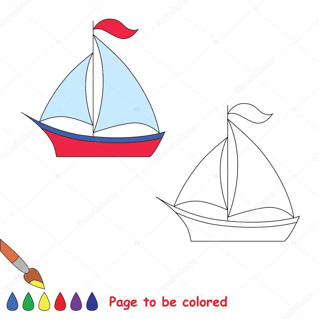 Oyunu Takip Et Renkli Olması Için Vektör Tekne Stok Vektör