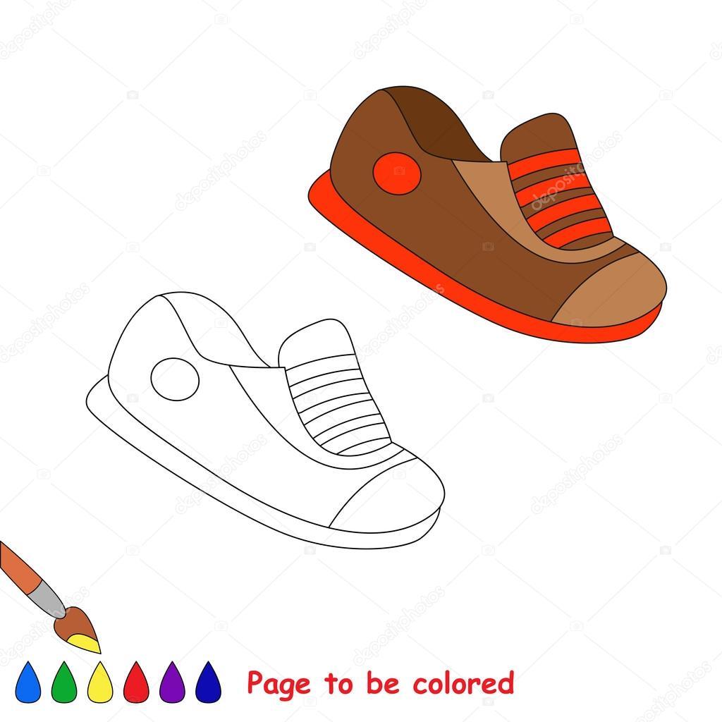 Scarpe Del Fumetto Vettoriale Da Colorare Vettoriali Stock