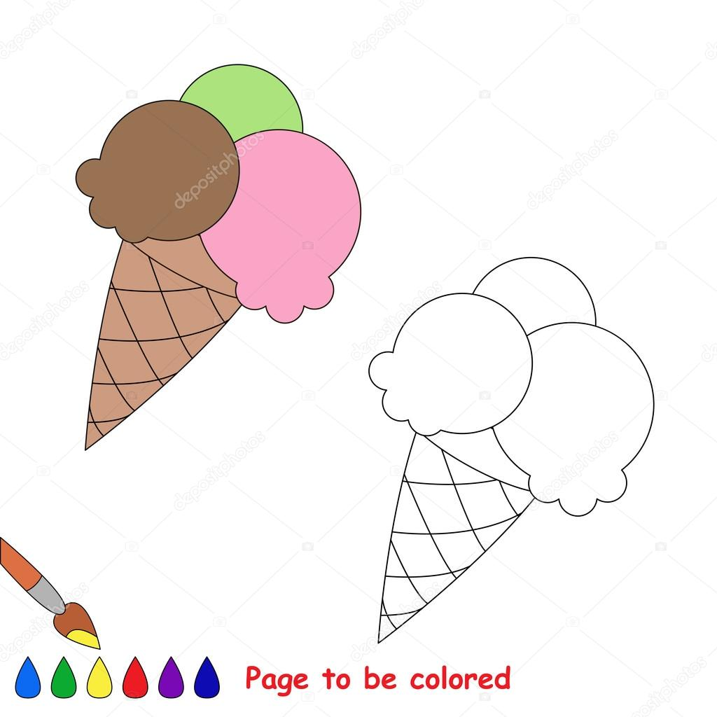 Vector de dibujos animados de helados para colorear — Archivo ...