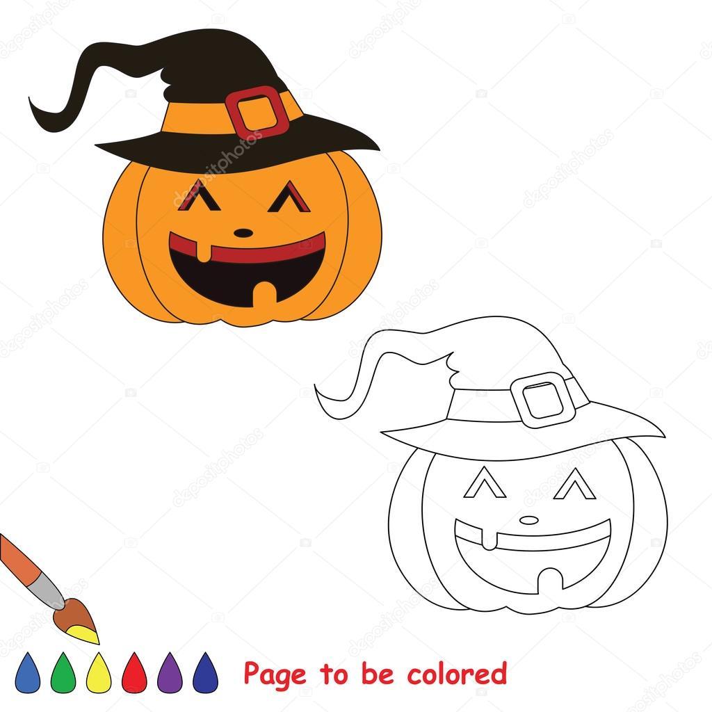 Vector de dibujos animados de calabazas de halloween para colorear ...
