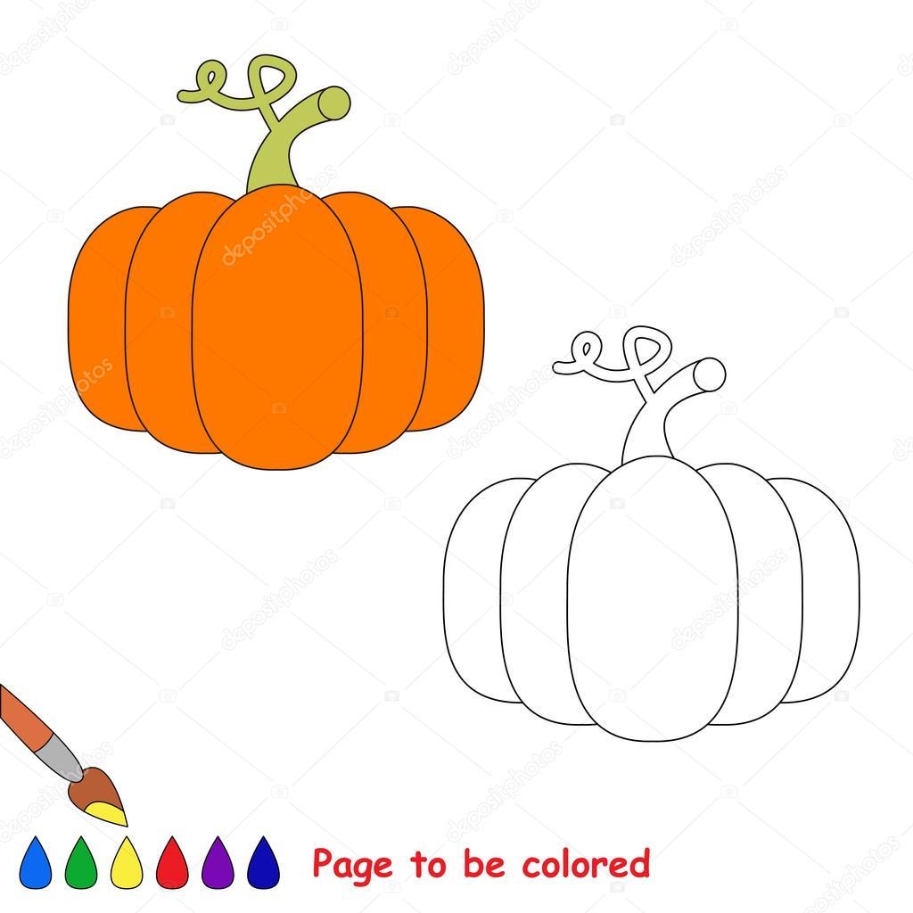 Calabaza de naranja dibujos animados de vector para colorear ...