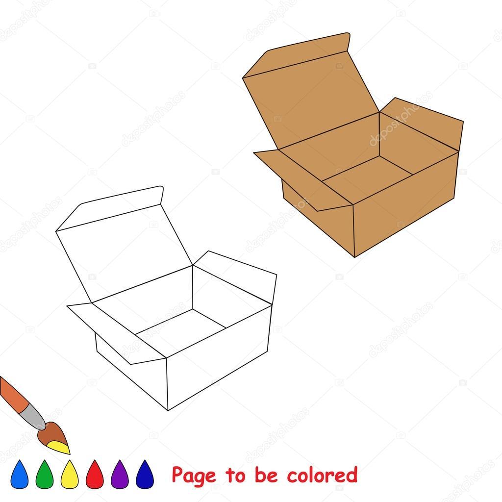 Dibujos Para Colorear De Cajas Vacias Vector De La Historieta