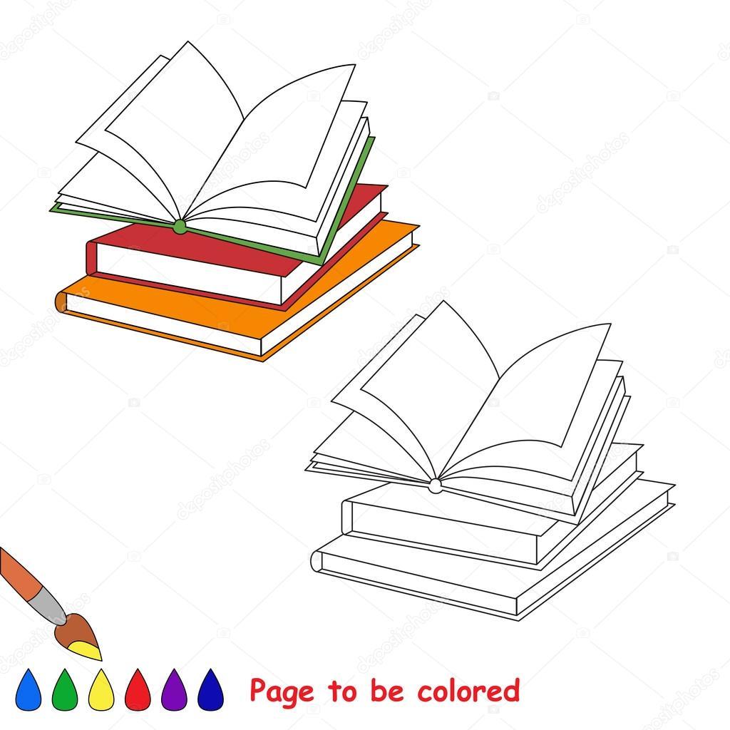 Libros De Dibujos Animados De Vector Para Colorear Vector De Stock