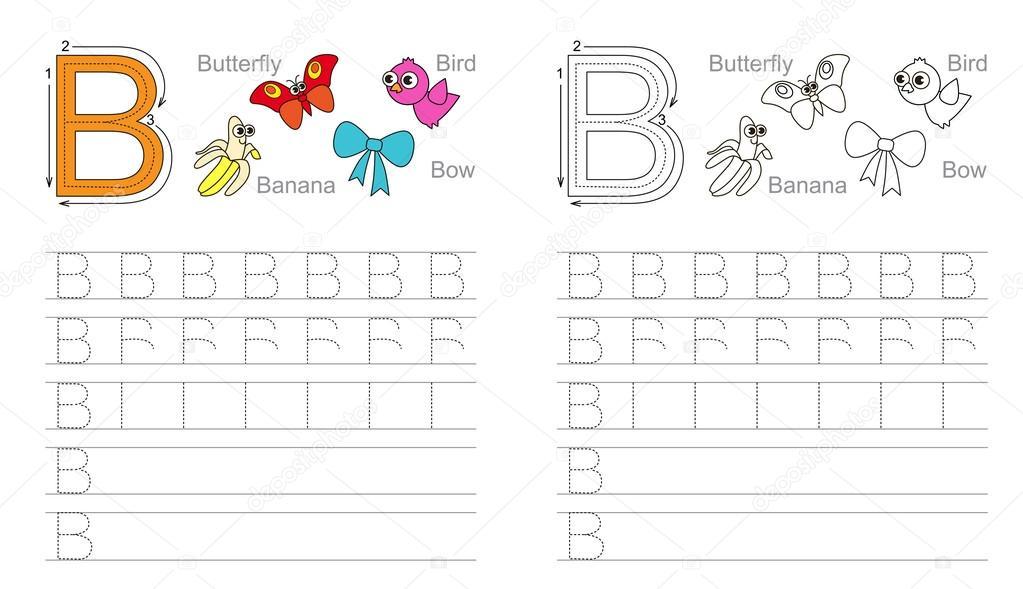 Trazar la hoja de cálculo para la letra B — Archivo Imágenes ...
