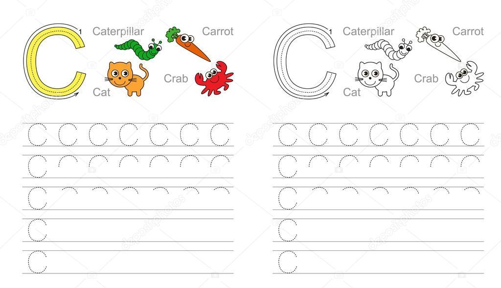Brief C. Learn Handschrift — Stockvektor © Anna_Mikhailova #91042686