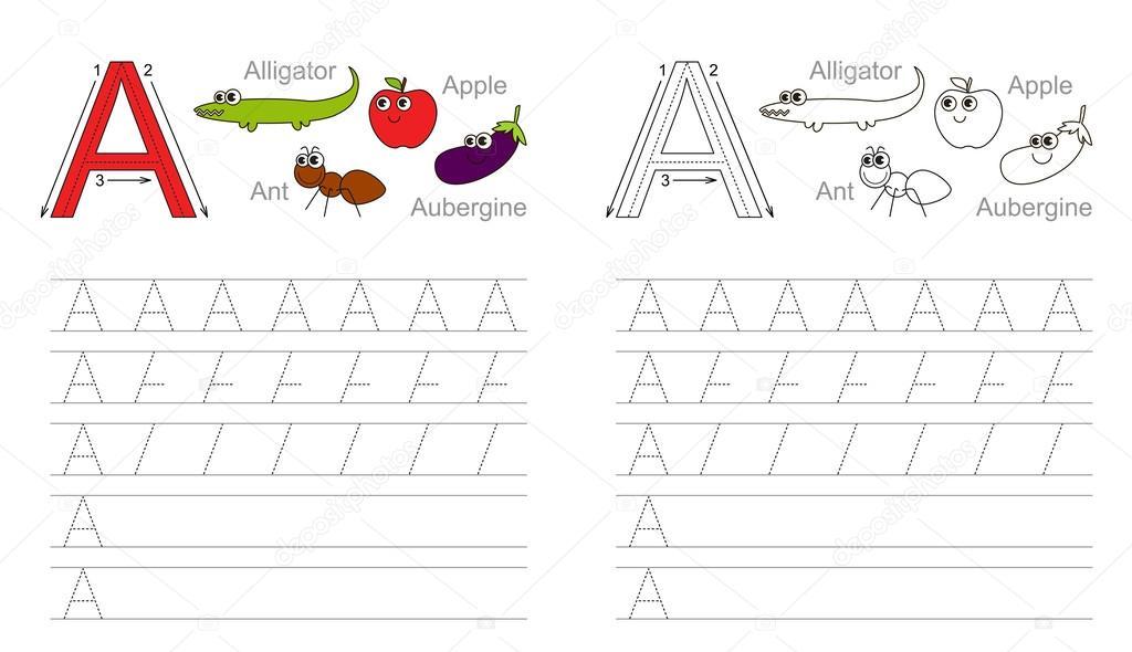 Trazar la hoja de cálculo para letra A — Archivo Imágenes ...