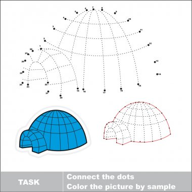 Igloo to be traced. Vector numbers game.