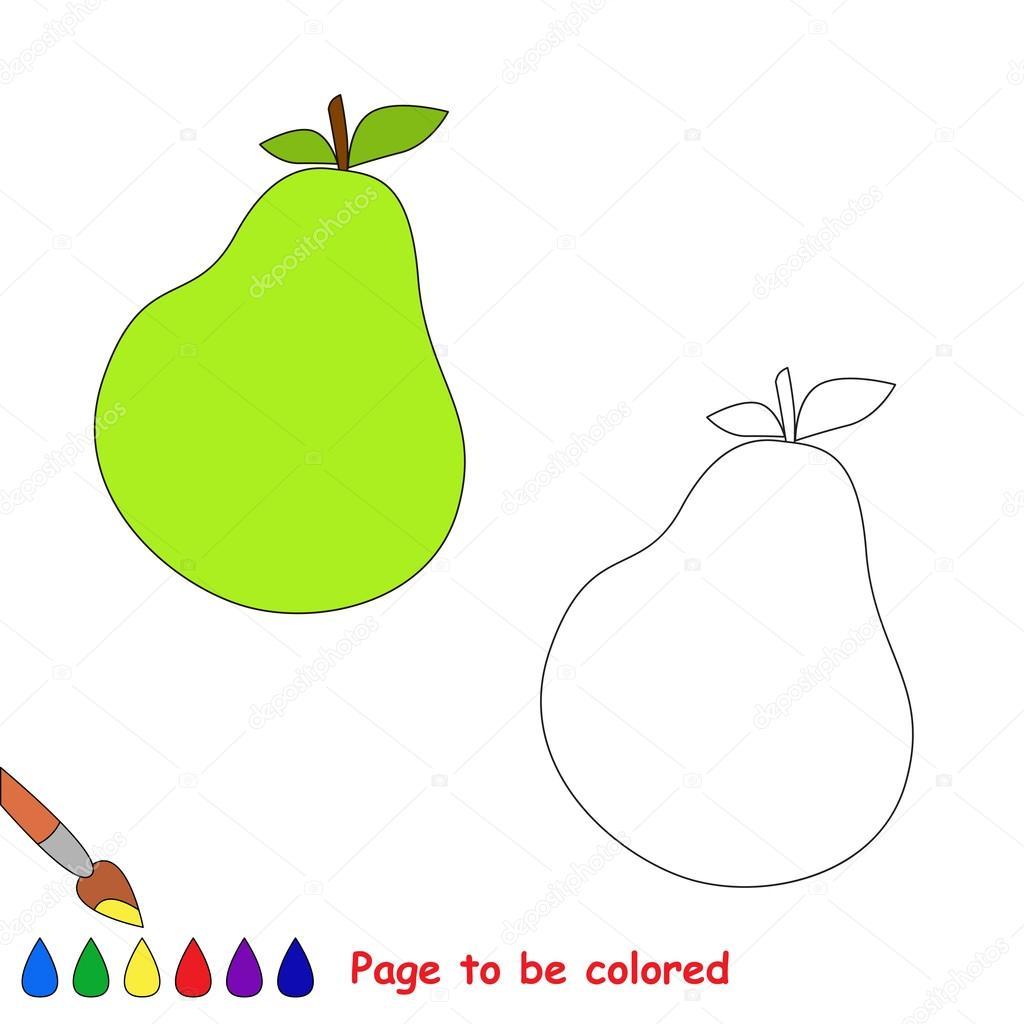 Imágenes Peras Para Imprimir Dibujos Animados De Vector De Pera