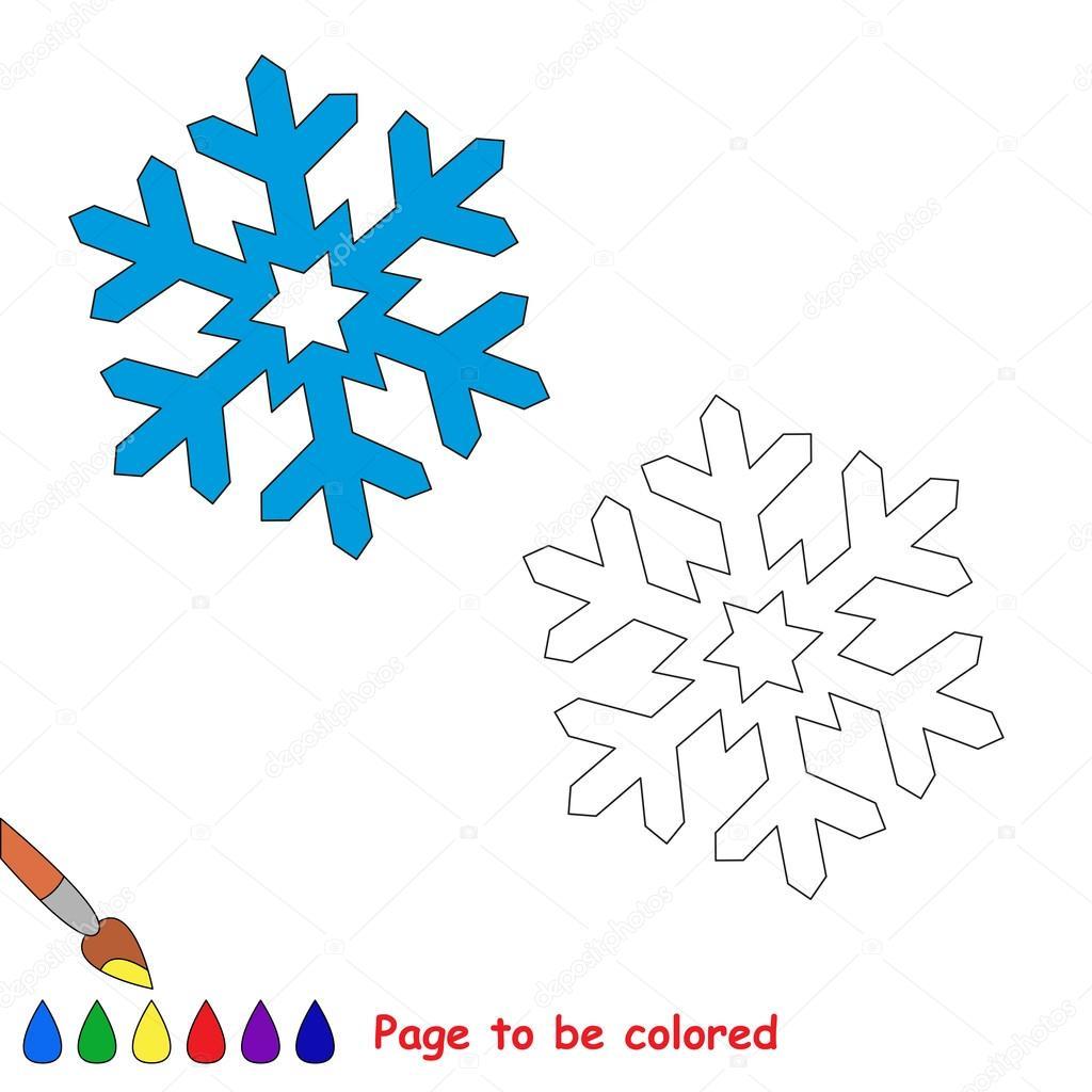 Assez de vecteur de flocon de neige à colorier — Image vectorielle #91142150 EG26