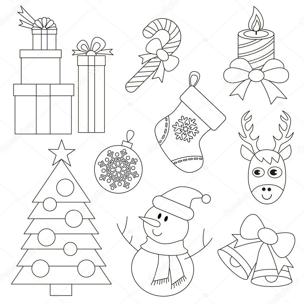 Navidad para colorear — Vector de stock © Anna_Mikhailova #91776160