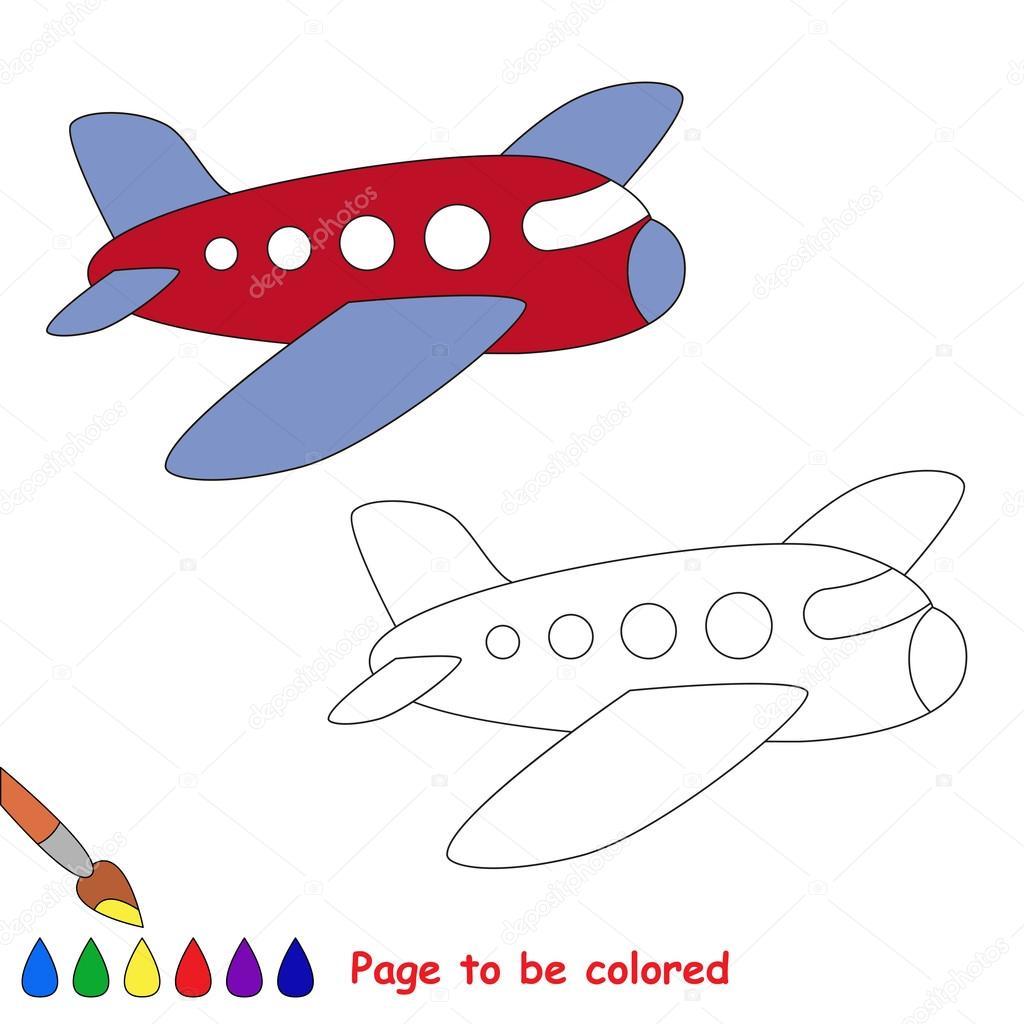 Vector Avion Niños Avión En Dibujos Animados De Vector