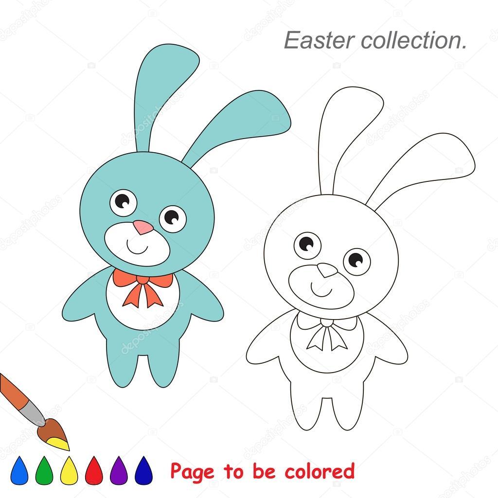 Rosa y azul conejo para colorear. Juego para niños — Archivo ...
