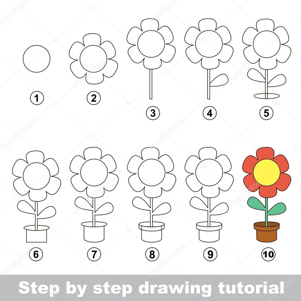 Come Disegnare Un Vaso Di Fiori Vettoriali Stock Anna Mikhailova
