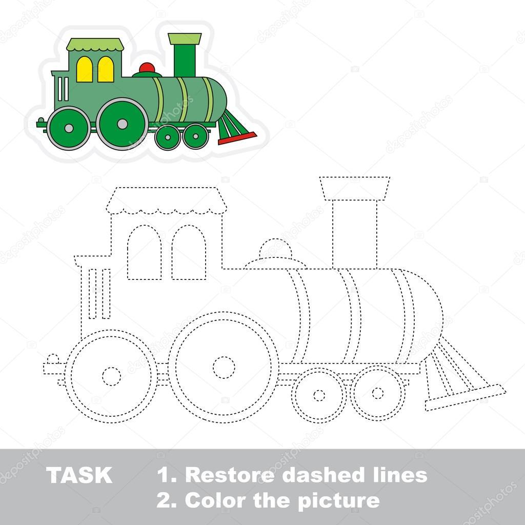 Locomotora a remontar. Juego de rastreo Vector — Vector de stock ...