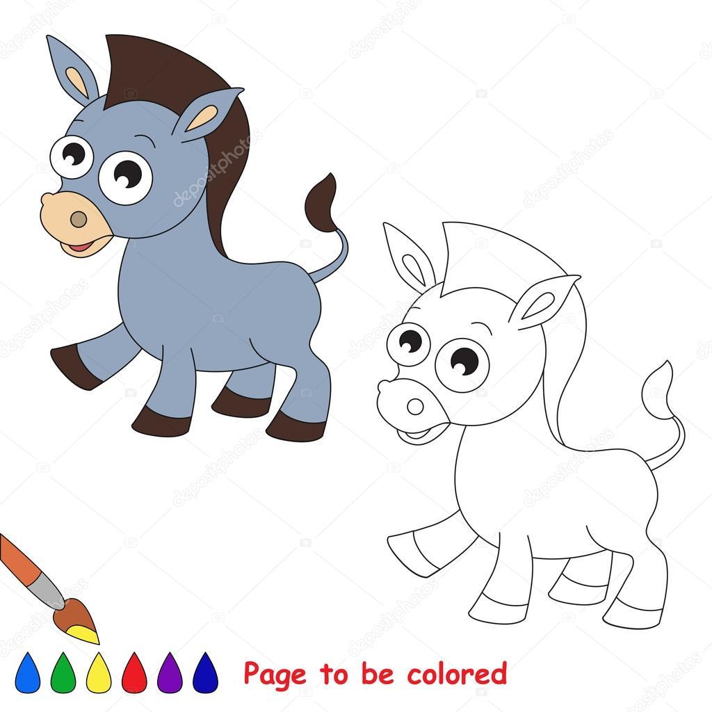 Dibujos Burro Para Colorear Dibujos Animados De Burro Página