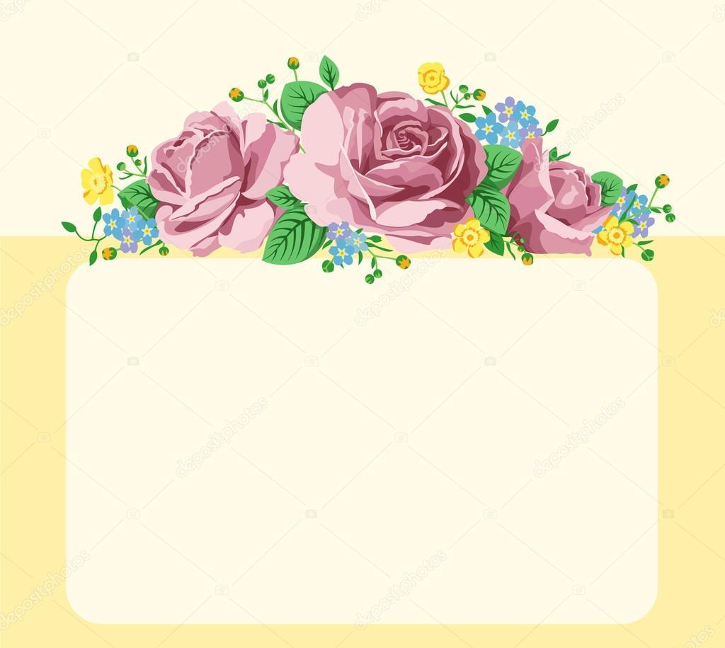 Fondo Fondos Para Escribir Fondo Con Rosas Y Espacio Para