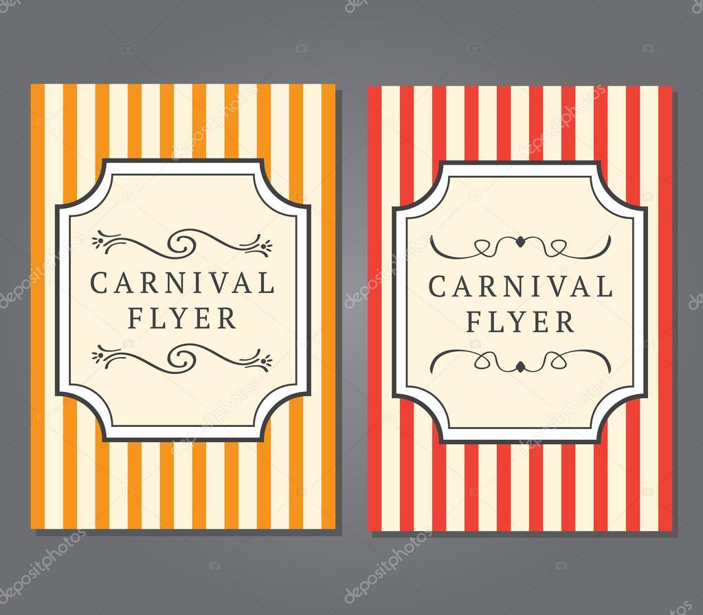 carnival flyer template stock vector myub 105247584. Black Bedroom Furniture Sets. Home Design Ideas