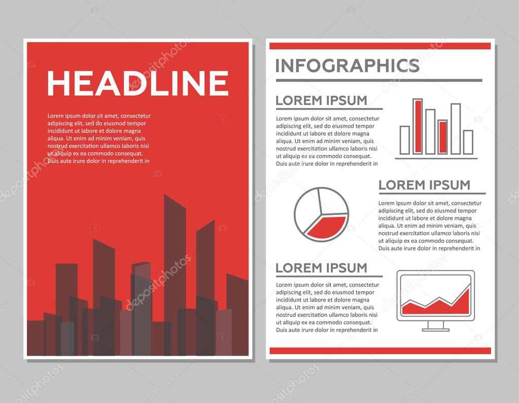 Creative Brochure Template Design with infographic chart. Abstract ...