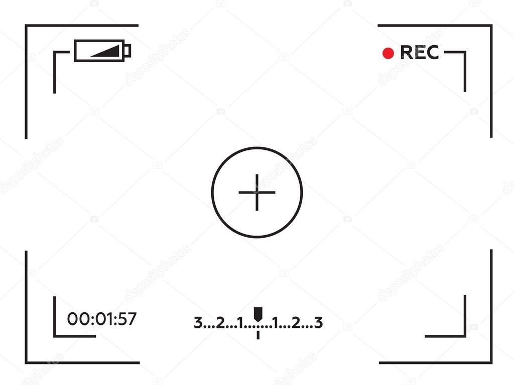 Camera Template | Camera Viewfinder Template Focusing Screen Of The Camera