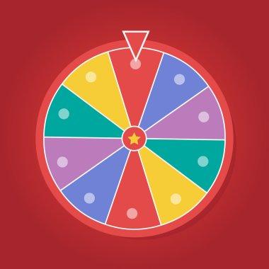 Lucky wheel vector template. Color lucky wheel