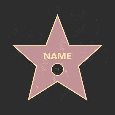 Walk of fame star. Star hollywood