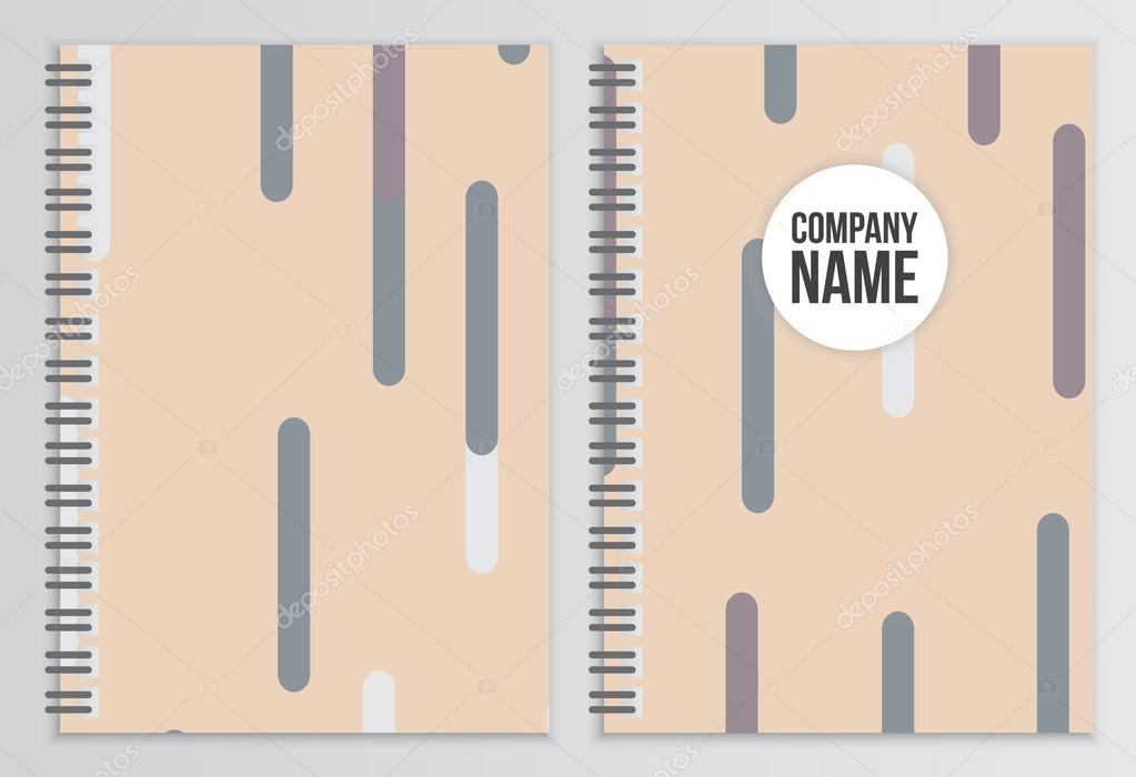 Notebook cover. Corporate identity template. Business stationery ...