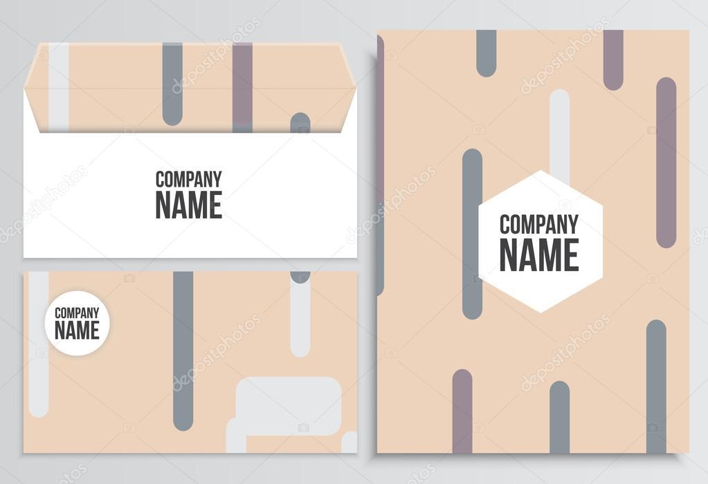 Umschlag mit Blindabdeckung. Corporate Identity-Vorlage. Geschäft ...