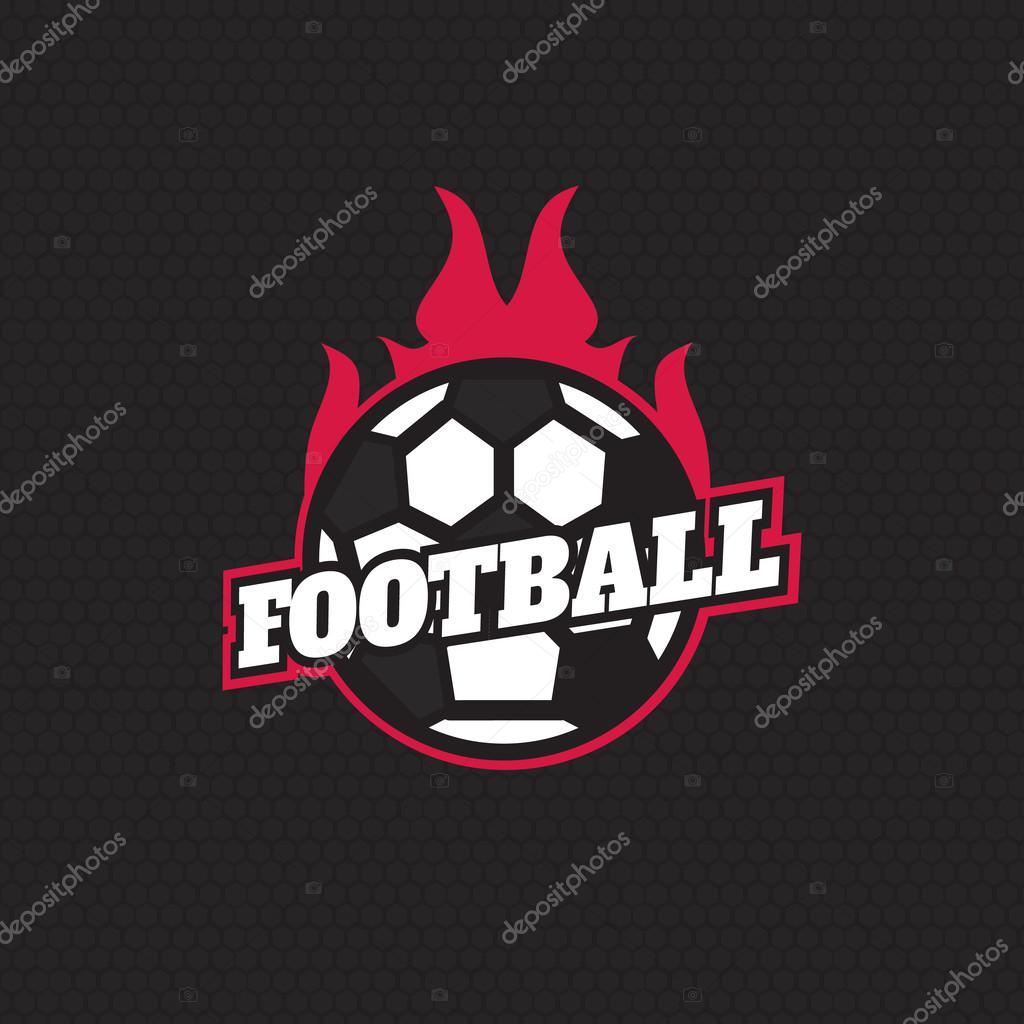 football badge logo template design soccer team vector stock