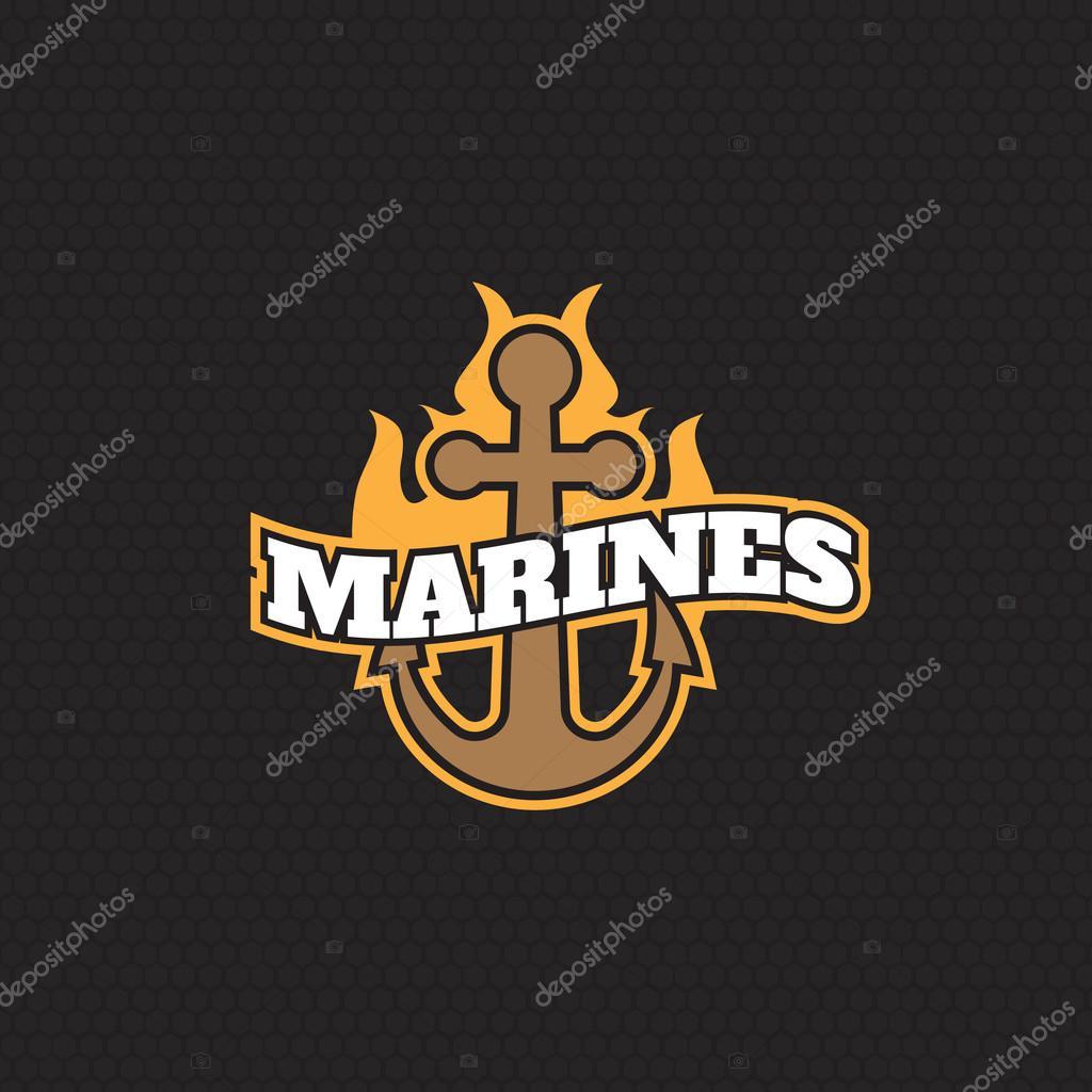 d59febd93696 Contrassegno dell annata di marines antico monocromatico hipster ...