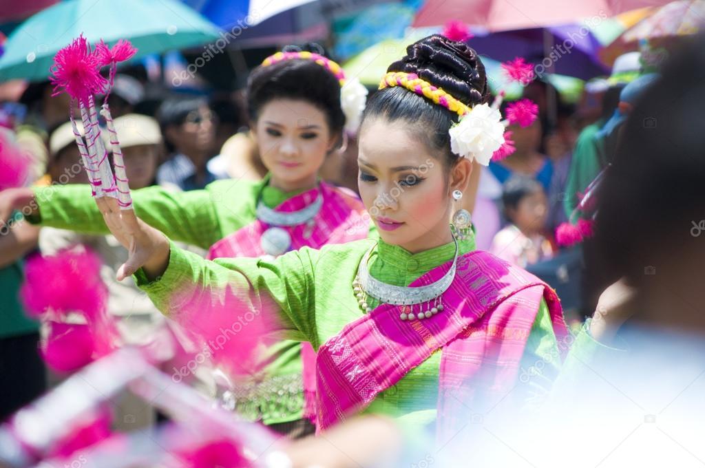 Phanomphrai, ROI-ET,THAI-June 4:Unidentified dancers perform at