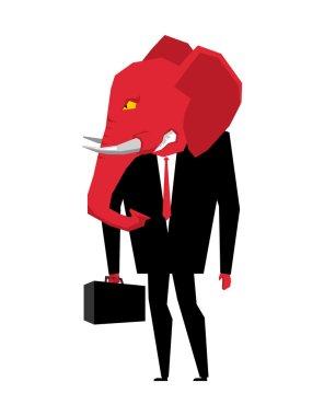 Elephant Republican politician. Metaphor of political party of U