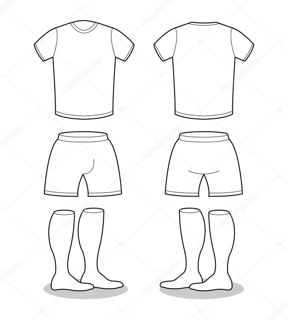 Sample For Sports Clothing Soccer T Shirt Shorts And Socks Tem