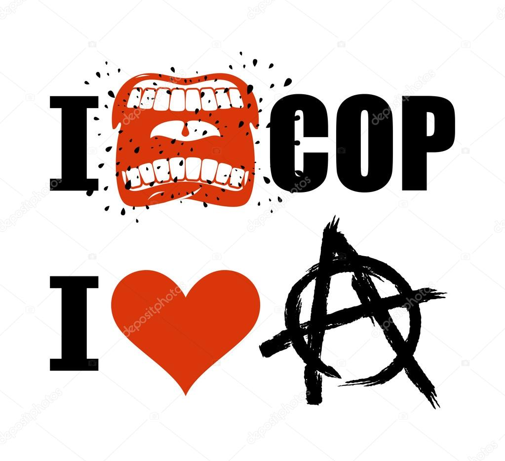 I Hate Cop Loud Cry Of Sign Of Aggression And Hatred For Police