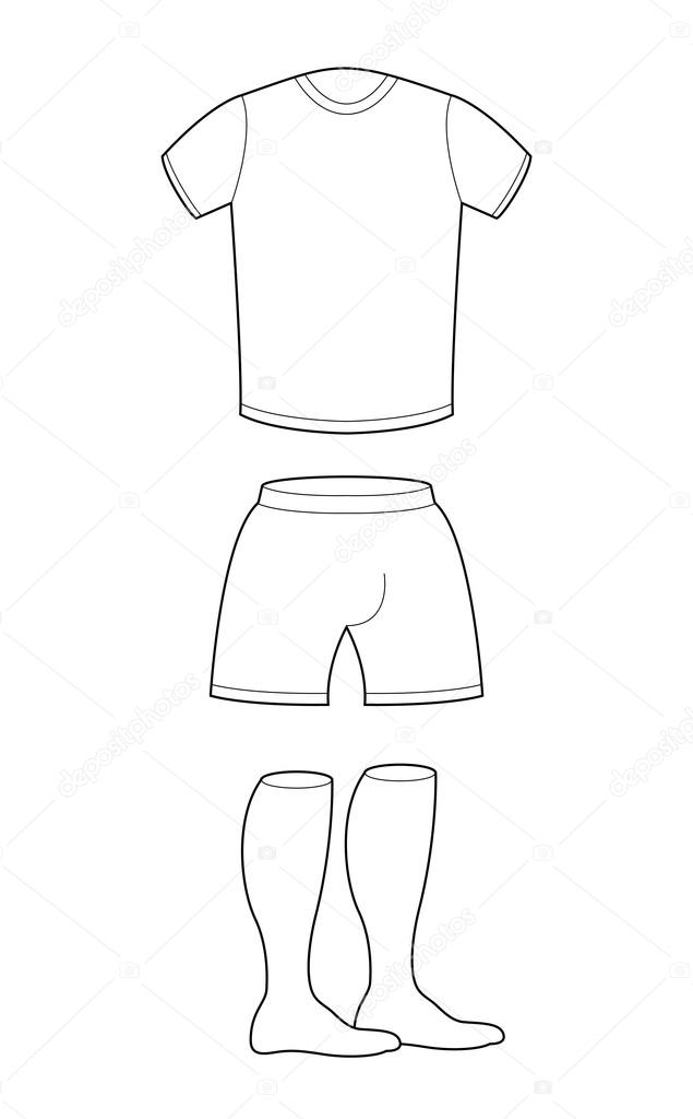 t shirt shorts and socks template for design sample for sports