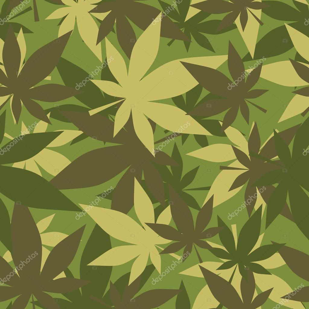 Military texture of marijuana. Soldiers camouflage hemp. Army se