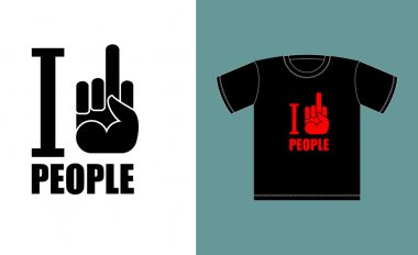 I don't love people. I hate people. Symbol of hatred fuck. Logo