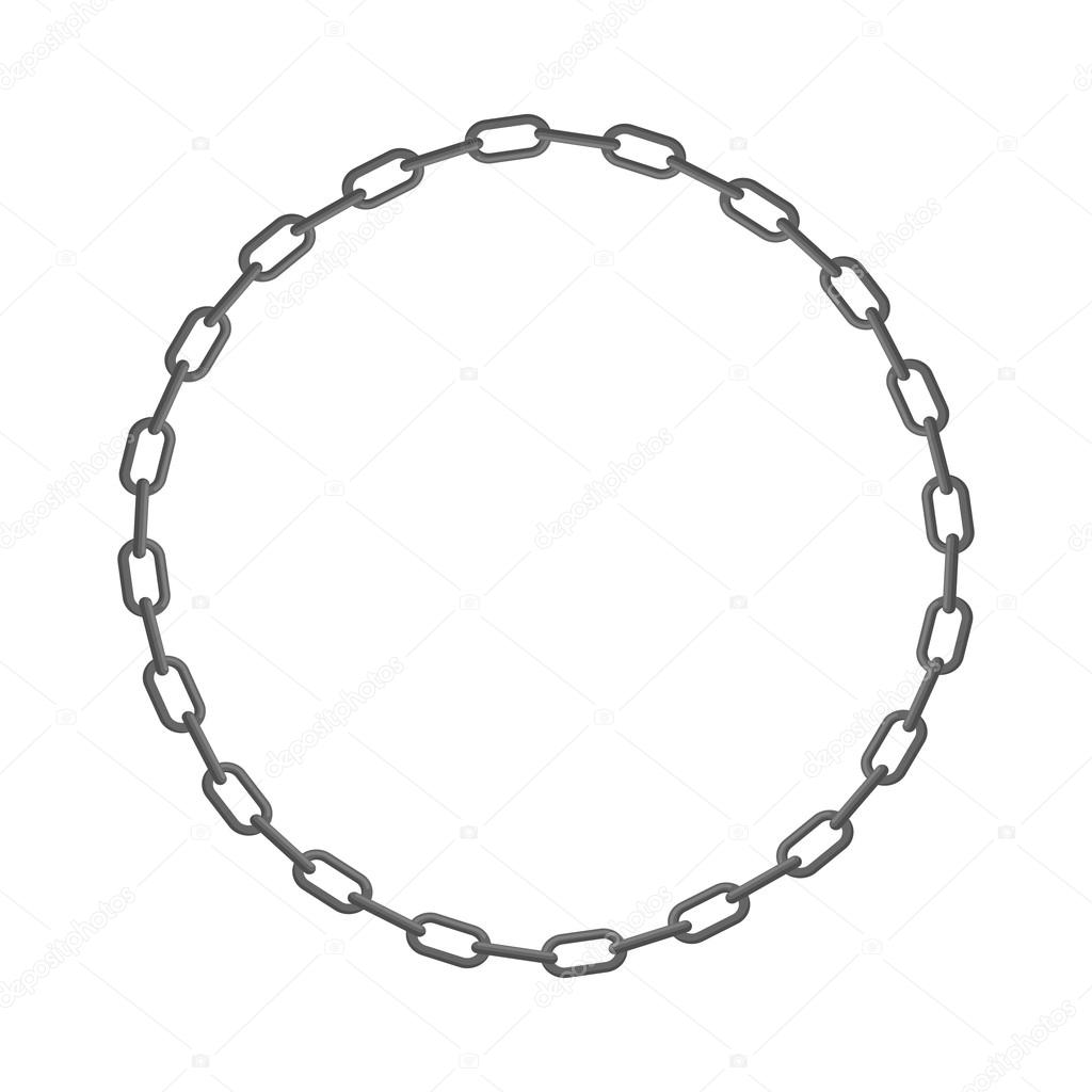 iron chain circle frame of rings of chain vector illustration rh depositphotos com chain vector illustrator chain vector brush free