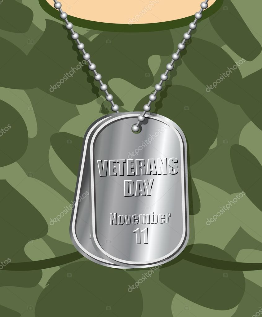 Day veteran. Army badge on his chest from soldier. Military t-sh
