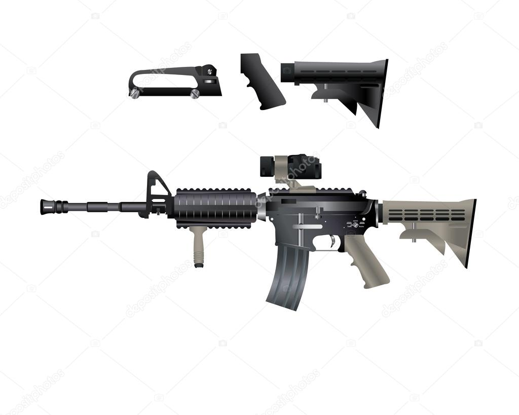 m4 carbine is armed with the u.s. army ⬇ vector image by © gd.mohamed |  vector stock 81804194  depositphotos