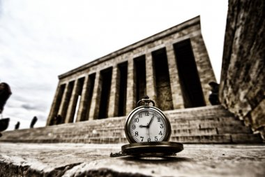 Turkey, Ankara, Ataturk's Mausoleum and time passes 09:05