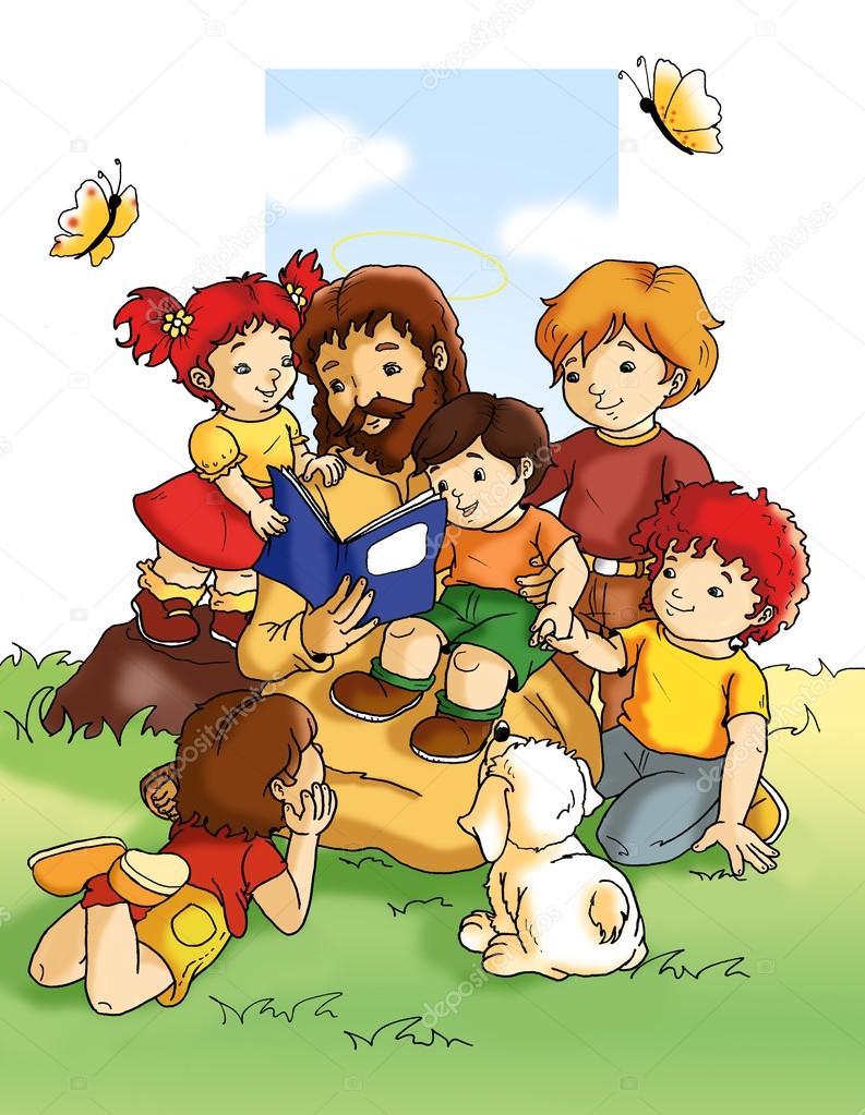 jezus en kinderen stockfoto 169 fanny55 82617376
