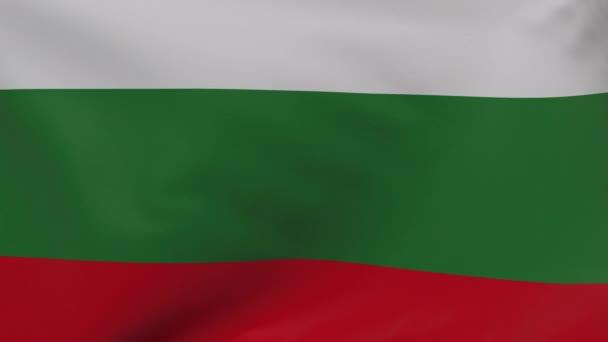 Bulgaria waving flag seamless loop animation 4k. 3d Bulgaria Flag texture close up background