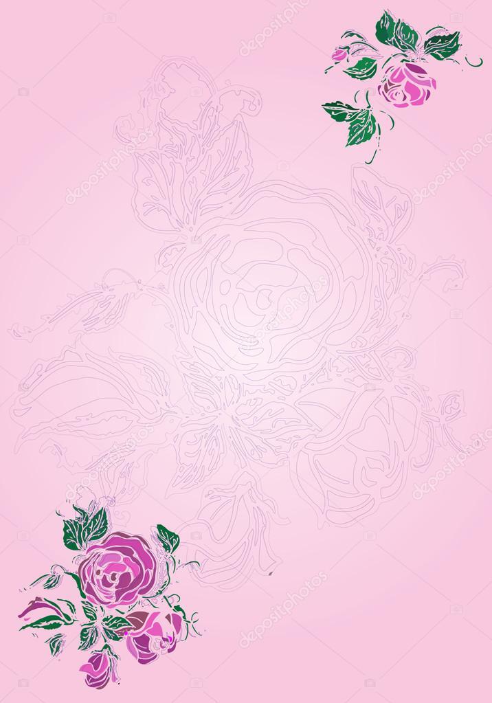 Sfondo Fiori Su Rosa Illustrazione Dei Fiori Su Sfondo Rosa