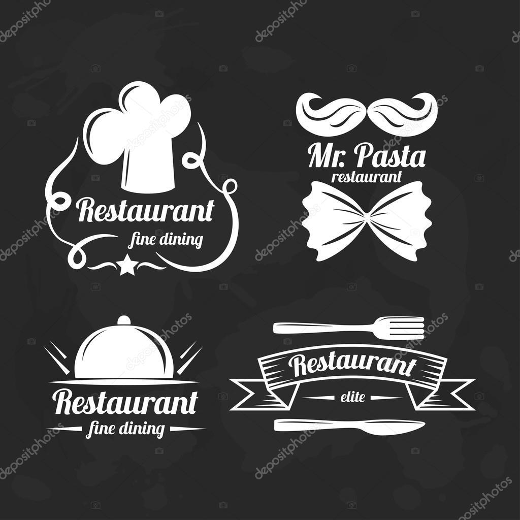 logos para restaurantes finos elementos de la insignia del